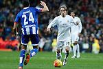 Real Madrid´s Luka Modric during 2015/16 La Liga match between Real Madrid and Deportivo de la Coruna at Santiago Bernabeu stadium in Madrid, Spain. January 09, 2015. (ALTERPHOTOS/Victor Blanco)