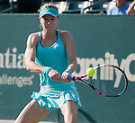 Eugenie Bouchard (CAN) loses to Lauren Davis (USA)  6-4, 6-1 at the Family Circle Cup in Charleston, South Carolina on April 8, 2015.