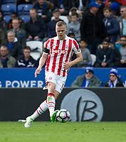 April 1st 2017, King Power Stadium, Leicester, England; EPL Premiership football, Leicester versus Stoke City; Ryan Shawcross of Stoke City on the ball
