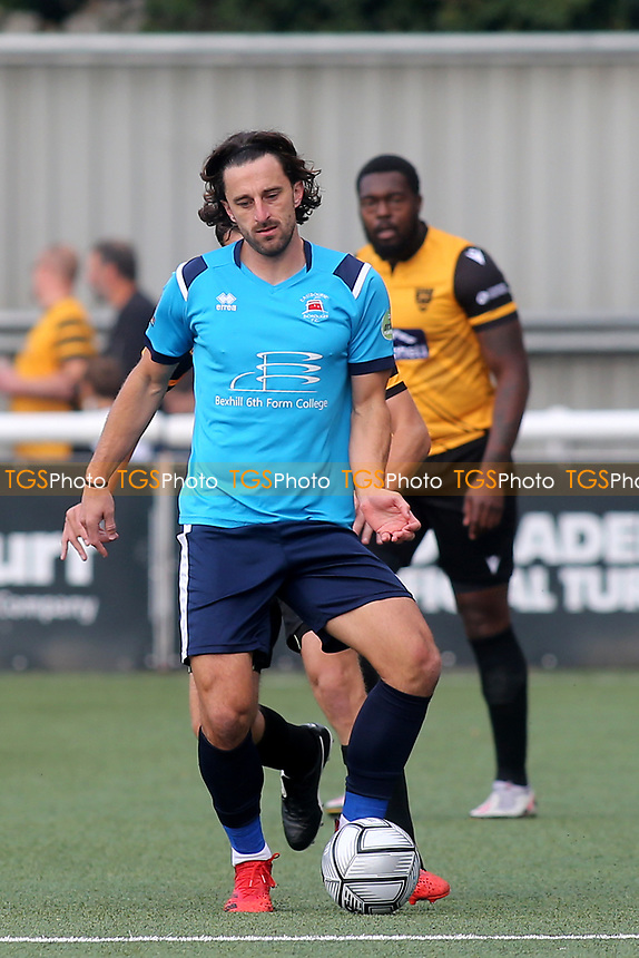 Chris Whelpdale of Eastbourne Borough in action during Maidstone United vs Eastbourne Borough, Vanarama National League South Football at the Gallagher Stadium on 9th October 2021