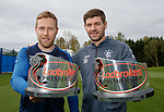 03.05.2019 Rangers awards: Scott Arfield and Steven Gerrard with player and manager of the month awards