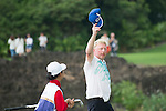 Boris Becker plays during the World Celebrity Pro-Am 2016 Mission Hills China Golf Tournament on 23 October 2016, in Haikou, Hainan province, China. Photo by Marcio Machado / Power Sport Images