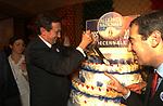 GIANFRANCO FINI CON MAURIZIO GASPARRI<br /> DECENNALE FONDAZIONE ALLEANZA NAZIONALE  ROMA 2005