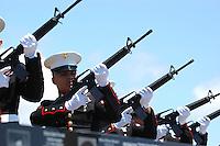 21-gun Salute during the Memorial Day ceremonies at Mount Soledad Veterans Memorial, Monday May 26 2008