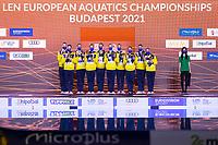 Artistic Swimming<br /> Highlights Routine Final<br /> Podium<br /> Gold Medal<br /> UKR UKRAINE<br /> ALEKSIIVA Maryna<br /> ALEKSIIVA Vladyslava<br /> FIEDINA Marta<br /> HRYSHKO Veronika<br /> NOSOVA Anna<br /> REZNIK Kateryna<br /> SAVCHUK Anastasiya<br /> SHYNKARENKO Alina<br /> SYDORENKO Kseniya<br /> YAKHNO Yelyzaveta<br /> DEREVIANCHENKO Olesia<br /> MATSIIEVSKA Sofiia<br /> XXXV LEN European Aquatic Championships<br /> Duna Arena<br /> Budapest  - Hungary  11/5/2021<br /> Photo Pasquale Francesco Mesiano / Deepbluemedia / Insidefoto