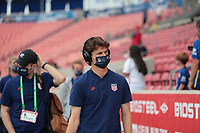 SANDY, UT - JUNE 10: Brenden Aaronson #8 of the United States before a game between Costa Rica and USMNT at Rio Tinto Stadium on June 10, 2021 in Sandy, Utah.