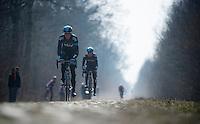 Paris-Roubaix 2013 RECON at Bois de Wallers-Arenberg..Mathew Hayman (AUS)