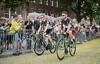 "Mark Cavendish  (GBR/Dimension Data) on the Yellow Brick Road<br /> <br /> ""Le Grand Départ"" <br /> 104th Tour de France 2017 <br /> Team Presentation in Düsseldorf/Germany"