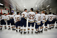 NYS Section 1 D2 Final:  The Rye Town/Harrison Titans vs the Pelham Pelicans boys hockey at the Brewster Ice Arena, Brewster, NY, on Sunday, February 28, 2016.  Pelham defeated Rye Town/Harrison by the score of 5 - 1.