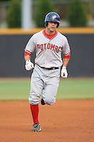 Designated hitter Danny Espinosa #3 of the Potomac Nationals rounds the bases following his first inning home run at Wake Forest Baseball Stadium May 8, 2009 in Winston-Salem, North Carolina. (Photo by Brian Westerholt / Four Seam Images)