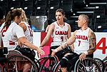 Danielle Duplessis, Tokyo 2020 - Wheelchair Basketball // Basketball en fauteuil roulant.<br /> Canada takes on the USA in the wheelchair basketball quarterfinal // Le Canada affronte les États-Unis en quart de finale de basketball en fauteuil roulant. 31/08/2021.