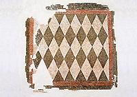 Roman geometric floor mosaic with black and white diamonds shapes. From the Roman villa near Botte, Rome. 1st century BC . National Roman Museum, Rome, Italy