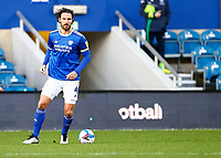 31st October 2020; The Kiyan Prince Foundation Stadium, London, England; English Football League Championship Football, Queen Park Rangers versus Cardiff City; Sean Morrison of Cardiff City looking at options