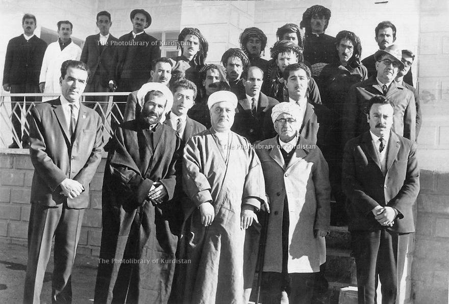 Iran1966 .First rank, 3rd from right, Habidolla Marduch, member of parliament in Sakkez .Iran 1966 .1er Rang, 3eme droite, Habidolla Marduch, futur parlementaire a Sakkez