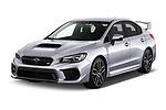 2021 Subaru WRX-STI - 4 Door Sedan Angular Front automotive stock photos of front three quarter view
