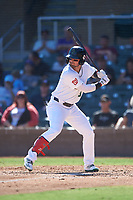 Surprise Saguaros Nick Banks (3), of the Washington Nationals organization, at bat during the Arizona Fall League Championship Game against the Salt River Rafters on October 26, 2019 at Salt River Fields at Talking Stick in Scottsdale, Arizona. The Rafters defeated the Saguaros 5-1. (Zachary Lucy/Four Seam Images)