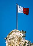 Malta, Valetta: Maltesische Flagge am Sitz des Premierministers | Malta, Valetta: Maltese flag at Prime Minister's office