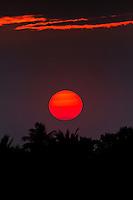 World-famous Hawaiian sunset.