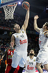 Real Madrid's Willy Hernangomez during Euroleague match. January 28,2016. (ALTERPHOTOS/Acero)