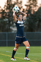 Sky Blue FC defender Caitlin Foord (4) on a throw in. Sky Blue FC defeated the Western New York Flash 1-0 during a National Women's Soccer League (NWSL) match at Yurcak Field in Piscataway, NJ, on April 14, 2013.