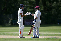 Robin Das and Adnan Akram enjoy a useful partnership for Wanstead during Wanstead and Snaresbrook CC vs Harold Wood CC, Hamro Foundation Essex League Cricket at Overton Drive on 17th July 2021