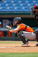 Jack Holman (19) of Etiwanda High School in Wrightwood, CA during the Perfect Game National Showcase at Hoover Metropolitan Stadium on June 20, 2020 in Hoover, Alabama. (Mike Janes/Four Seam Images)