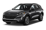 2020 Ford Escape SEL 5 Door SUV angular front stock photos of front three quarter view