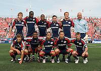 23 May 09: New England Revolution starting eleven during a game between the New England Revolution and Toronto FC.Toronto FC won 3-1.
