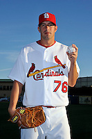 Mar 01, 2010; Jupiter, FL, USA; St. Louis Cardinals pitcher Evan MacLane (76) during  photoday at Roger Dean Stadium. Mandatory Credit: Tomasso De Rosa/ Four Seam Images