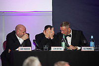 Pictured: Andy Robison, Leon Britton, Lee Trundle of Swansea City during the Swansea City Question Of Sport at the Liberty Stadium in Swansea, Wales, UK. Thursday 05 December 2019