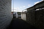 Bacup Borough 4 Holker Old Boys 1, 25/04/2016. Brain Boys West View Stadium, NorthWest Counties League Division One. The main spectator entrance to the Brain Boys West View Stadium before Bacup Borough play Holker Old Boys in a NorthWest Counties League division one fixture. Formed as Bacup in 1879, the club moved into their current home in 1889 and have been known as Bacup Borough since the 1920s, apart from a brief recent spell when they added the name Rossendale to their name. With both teams challenging for play-off places, Bacup Borough won this fixture by 4-1, watched by a crowd of 50. Photo by Colin McPherson.