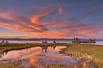 Sunset, Wetlands, Mono Basin National Forest Scenic Area, Inyo National Forest, Eastern Sierra, California