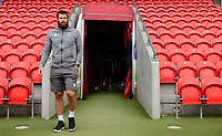 Lincoln City's Michael Bostwick arrives at the ground prior to the game<br /> <br /> Photographer Chris Vaughan/CameraSport<br /> <br /> EFL Leasing.com Trophy - Northern Section - Group H - Doncaster Rovers v Lincoln City - Tuesday 3rd September 2019 - Keepmoat Stadium - Doncaster<br />  <br /> World Copyright © 2018 CameraSport. All rights reserved. 43 Linden Ave. Countesthorpe. Leicester. England. LE8 5PG - Tel: +44 (0) 116 277 4147 - admin@camerasport.com - www.camerasport.com