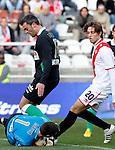 Madrid (03/03/2012).-Campo de Futbol de Vallecas..Liga BBVA..Rayo Vallecano-Real Racing Club..Mario, Torrejon, Michu...©Alex Cid-Fuentes.......