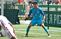 Portland, OR - Saturday August 12, 2017: Justin Garces during friendly match between the USMNT U17's and Chile u17's at Providence Park in Portland, OR.