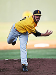 Amarillo Sox Pitcher Colin Allen (28) in action during the American Association of Independant Professional Baseball game between the Amarillo Sox and the Fort Worth Cats at the historic LaGrave Baseball Field in Fort Worth, Tx. Fort Worth defeats Amarillo 3 to 0......