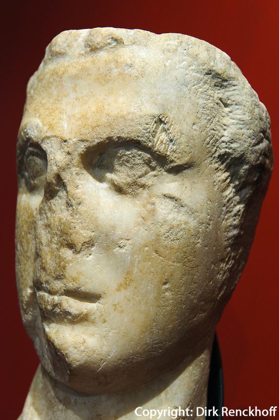 Museum der Ausgrabungstätte Halaesa bei Tusa, Sizilien, Italien