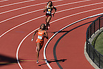 13 JUNE 2015: Claudia Francis of Florida leads Vanessa Jones of USC in the the anchor leg of the Women's 4X400 meter relay during the Division I Men's and Women's Outdoor Track & Field Championship held at Hayward Field in Eugene, OR. Florida won the event in a time of 3:28.12. Steve Dykes/ NCAA Photos