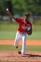 St. Louis Cardinals pitcher Pedro Echemendia (30) during a minor league spring training game against the Miami Marlins on March 31, 2015 at the Roger Dean Complex in Jupiter, Florida.  (Mike Janes/Four Seam Images)
