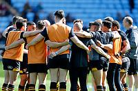 Photo: Richard Lane/Richard Lane Photography. Wasps v Worcester Warriors. Gallagher Premiership. 06/04/2019. Wasps huddle.