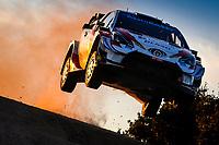 10th October 2020, Alghero, Sardinia, Italy; WRC Rally of Sardinia;   Rovanpera  gets airborne