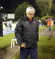 RIONEGRO -COLOMBIA, 9-12-2020:Humberto Sierra director técnico del Medellín.Rionegro AguIlas Doradas y Deportivo Independiente Medellín durante partido  por la fecha 3 de la Liguilla BetPlay DIMAYOR I 2020 jugado en el estadio estadio Alberto Grisales de Rionegro. / Humberto Sierra coach of Medellin. Rionegro Aguilas Doradas and Deportivo Independiente Medellin   during match  for the date 3 BetPlay DIMAYOR Liguilla I 2020 played at Alberto Grisales stadium in Rionegro. Photo: VizzorImage/ Juan Augusto Cardona / Contribuidor