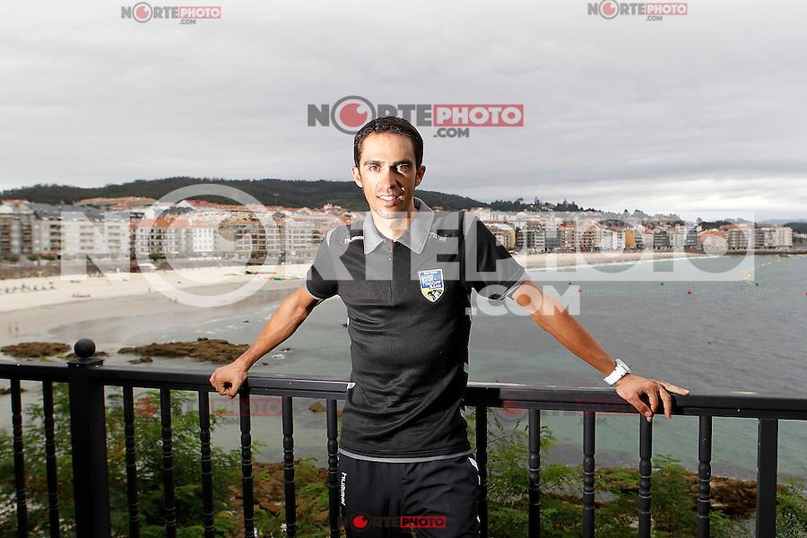 Alberto Contador during the rest day of La Vuelta 2012.August 27,2012. (ALTERPHOTOS/Acero) /NortePhoto.com<br /> <br /> **CREDITO*OBLIGATORIO** <br /> *No*Venta*A*Terceros*<br /> *No*Sale*So*third*<br /> *** No*Se*Permite*Hacer*Archivo**<br /> *No*Sale*So*third*