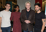 """Evan Maltby, Kim Steele, Gary Busey and Mike Squillante during the """"Only Human - A #Blessed New Musical"""" Sneak Peek at The Yard Herald Square on September 17, 2019 in New York City."""