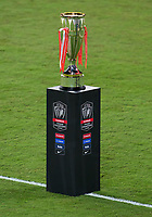 22nd December 2020, Orlando, Florida, USA; The trophy on display during the Concacaf Champions League Final between the LAFC and Tigres on December 22, 2020 at Explorer Stadium in Orlando, FL.