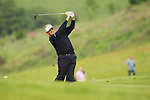 Colin Montgomerie fires his approach shot into the 16th during the 2nd round of the ISPS Handa Wales Open 2012...01.06.12.©Steve Pope