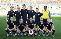 Washington Freedom starting 11.  Boston Breakers defeated Washington Freedom 3-1 at The Maryland SoccerPlex, Saturday April 18, 2009.