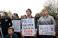 Boston rally against police brutality in support of Baltimore after the death of Freddie Gray in police custody 4.29.15