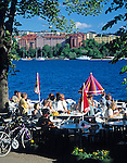 Sweden, Stockholm: cafe at Norr Malarstrand | Schweden, Stockholm: Strandcafe am Norr Malarstrand