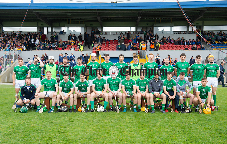 The Limerick team before their Munster championship game against Clare in Ennis. Photograph by John Kelly.